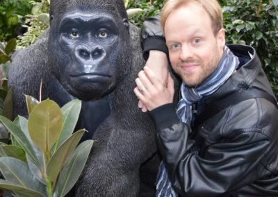 Amy und ich, Primaten unter sich ;-).